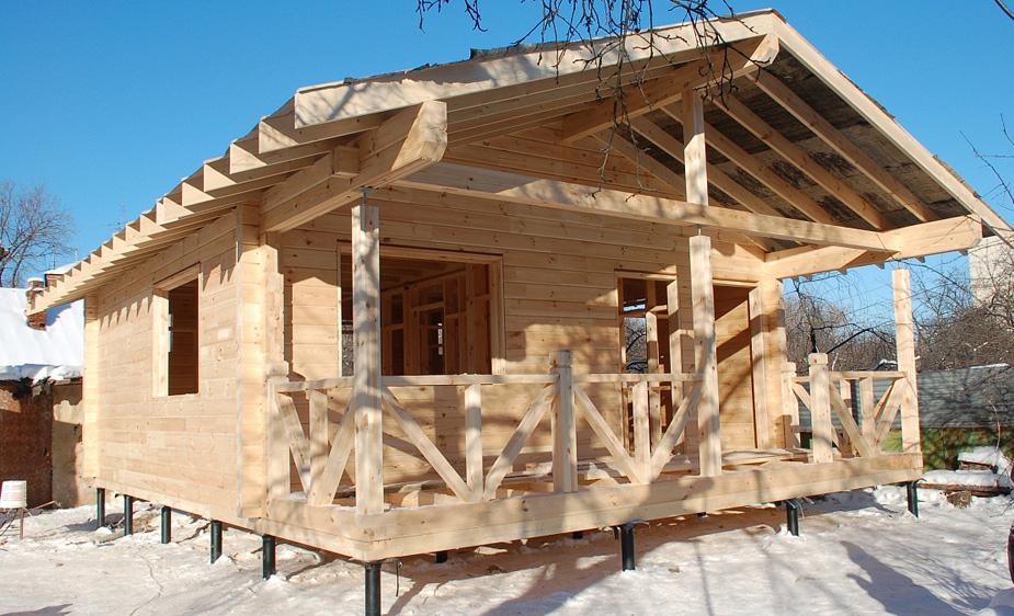 дом баня на сваях проекты